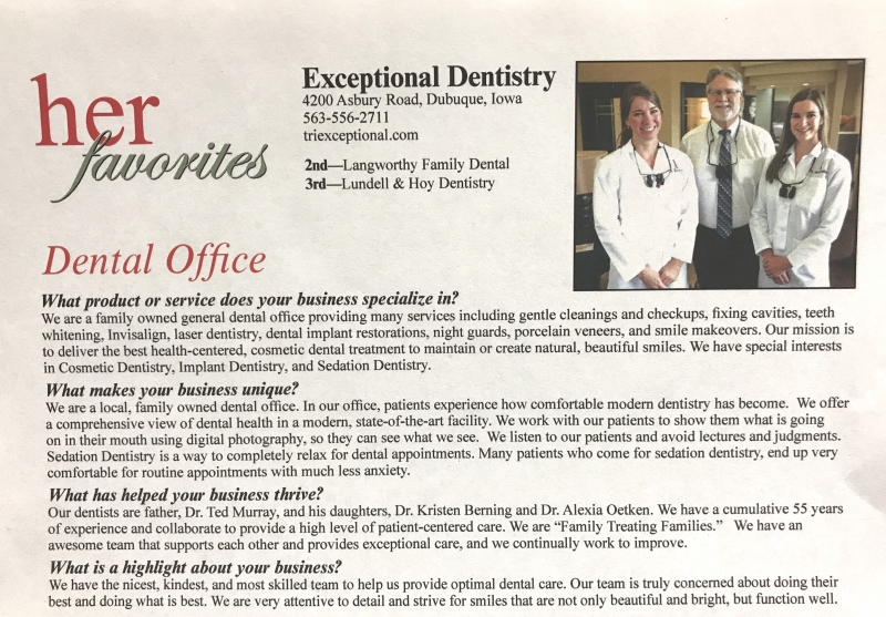 Dyersville Cosmetic Dentist Best Dubuque Dentist