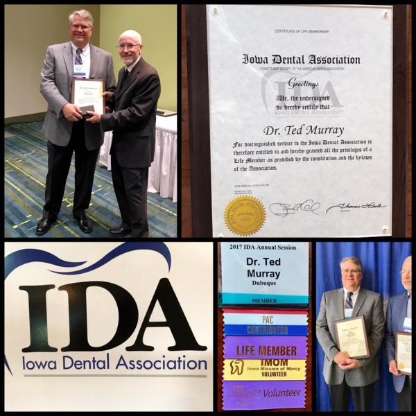 Dr Ted Murray Dubuque Dentist Award